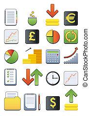 Finanzielle Web-Icon