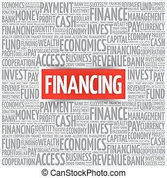 finanzierung, wort, wolke