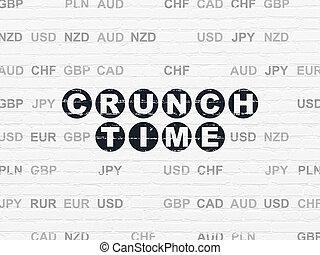 Finanzkonzept: Knackzeit im Hintergrund.