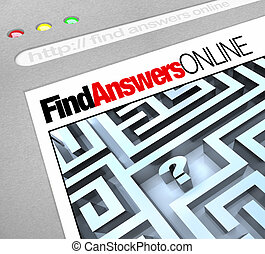 Finde Antworten online - Web-Screen