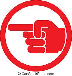 Fingerspitzen-Symbol