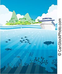 Fische unter dem Meer.