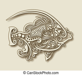 Fischtiere zerfleischen