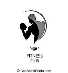 Fitness Club schwarze Ikone.