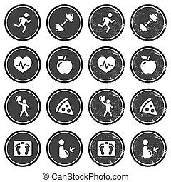 fitness, gesundheit, retro, labe, heiligenbilder