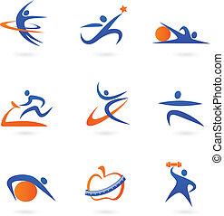 Fitness-Ikonen - zwei