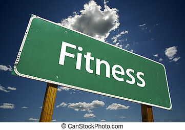 Fitness Road-Schild