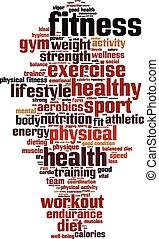Fitness-Wortwolke