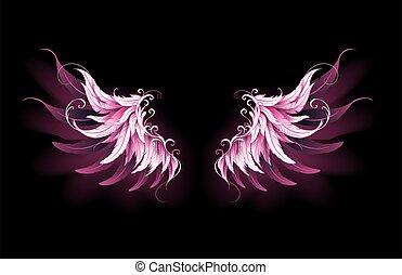 flügeln, rosa, engelchen