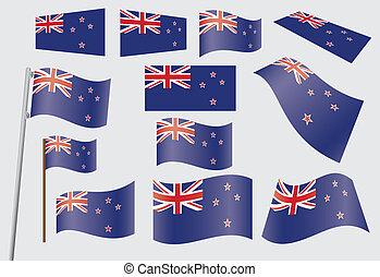 Flagge von neuem Land