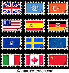 Flaggen auf den Briefmarken