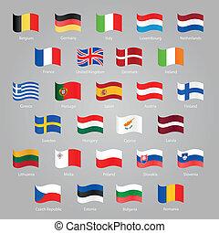 Flaggen der EU-Länder.