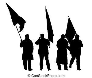 flags_people_walk