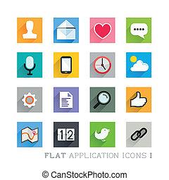 Flat-Ikon-Designs - Bewerbungen