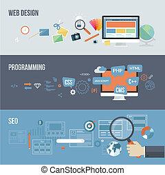 Flat-Konzepte für die Webentwicklung