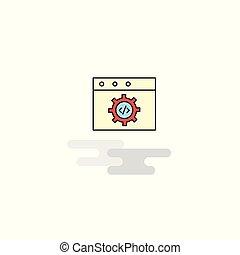 Flat Website Programmierung Icon. Vector