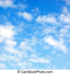 flaumig, wolkenhimmel