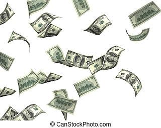 fliegende Dollarscheine