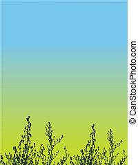 Floral Grunge Vektor Hintergrund