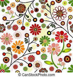 Flores, lebendiges, nahrloses Muster