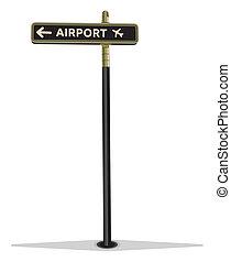 Flughafen-Straßezeichen