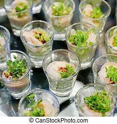 food-closeup, vorspeisen, finger