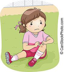 Football-Verletzung.
