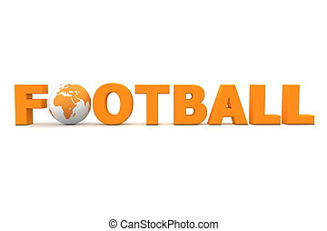 Football-Welt orange
