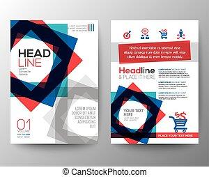 form, vektor, schablone, design, broschüre, hintergrund, flieger, plan, abstrakt, plakat, quadrat