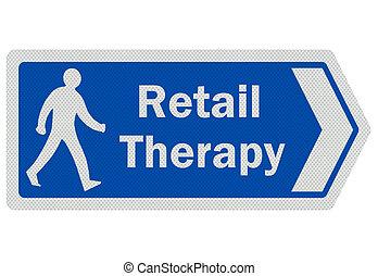 """Foto realistisches """"Privattherapie"""" -Schild, isoliert auf weiß"""