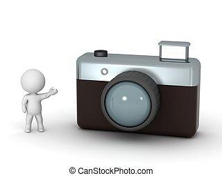 fotoapperat, zeichen, ausstellung, 3d, foto