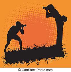Fotograf in Aktion.