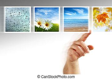 fotos, touchscreen