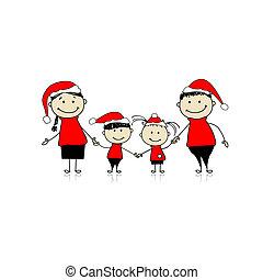 Fröhliche Familie, die zusammen lacht, Weihnachten