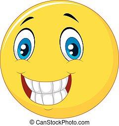 Fröhliches Lächeln.
