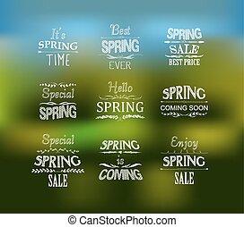 Frühlingstypografisches Design.