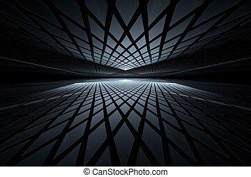 fractal, abstrakte kunst, perspektive, digital
