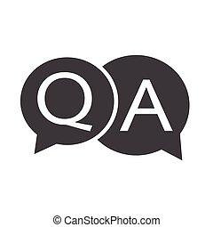 Frage-Antwort-Icon.