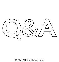 Frage & Antwort Icon.