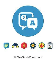Frage-Antwort-Symbol. Q&A Symbol.