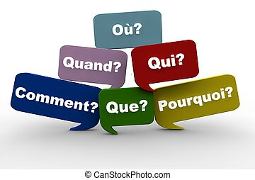 Fragen auf Französisch.