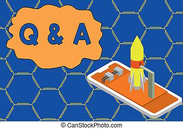 fragen, rakete, foto, start, eins, noch ein, verhandlungen, fragt, schreibende, begrifflich, begin., sie, smartphone, geschaeftswelt, ausstellung, question., antworten, hand, demonstrieren, stapellauf, q, showcasing, liegen