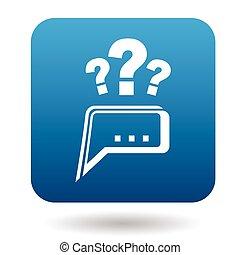 Fragen zum technischen Support Icon, Wohnung Stil