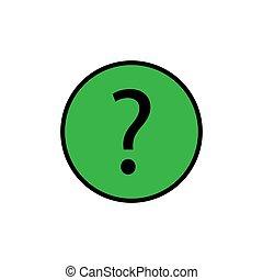 Fragetaste Icon.