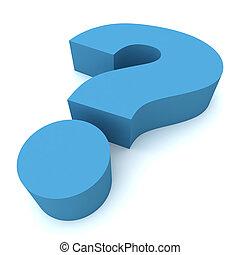 Fragezeichen 3d Illustration.