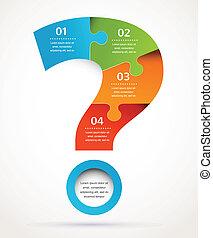 Fragezeichen abstraktes Design und Infographics, Hintergrund