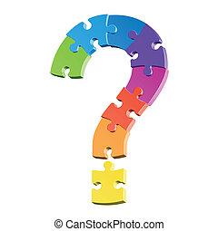 Fragezeichen-Puzzle
