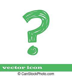 Fragezeichen Symbol Fragezeichen, grüne Ikone.
