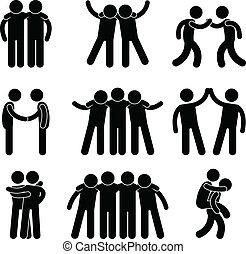 freundschaft, freund, beziehung, mannschaft