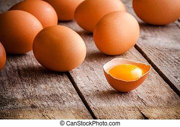 Frische Eier.